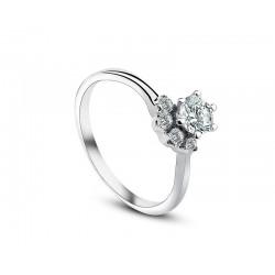 Virág alakú ezüst nyaklánc