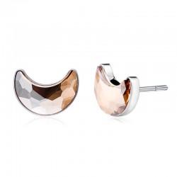Forgó gömbös rózsaarany gyűrű kristályokkal