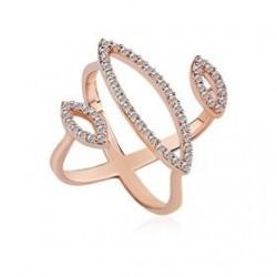 Szív alakú kristály 925 ezüst fülbevaló